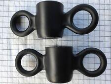 GISPEN pair (2) of BLack design Dumbo mugs by Richard HUTTEN