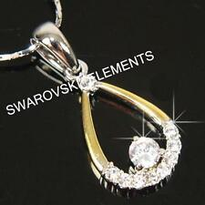 SALE Multi 18K Rose Gold Filled made with Swarovski Crystal Necklace Xmas p730