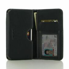 PDair Leather Book Wallet Case Cover for Apple iPhone 8 - Black