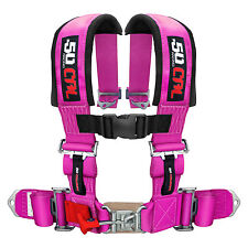 PINK Safety Seat Belts 3 in Harness Drifting Seats Rock Crawler Trophy Truck RV