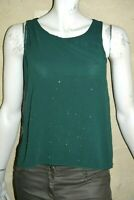 NAF NAF Taille XS - 34 Superbe haut top tee shirt débardeur vert foncé femme