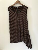 Plus Size TS Taking Shapes Women Sleeveless Flare Top Stripes Size 16