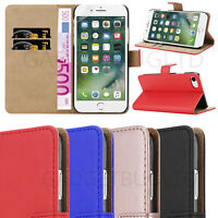 CASE FOR IPHONE 7/8 REAL GENUINE LEATHER SHOCKPROOF WALLET FLIP COVER