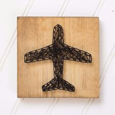 Airplane String Art | Wood Sign | Gift | Handmade | Home Decor | Aviary | Desk
