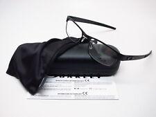 New Authentic Oakley Metal Plate 22-198 Matte Black Eyeglasses 53mm