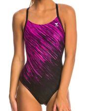 a0db4cbb52d NEW TYR Andromeda Diamondfit One Piece Swimsuit Pink Black Size 26 XXS 00