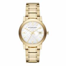 Burberry Unisex BU9003 Large Check Goldtone Stainless Steel Bracelet Watch