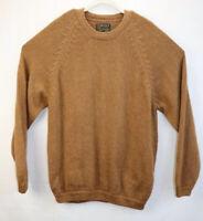 Alpaca Dina Mens Size XLarge Brown Sweater Pullover Crew Neck Alpaca Wool EUC