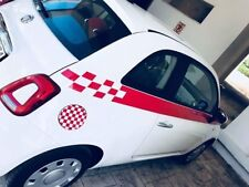 Fiat  / 500 / Side Sport Stripe Decals Kit Stickers