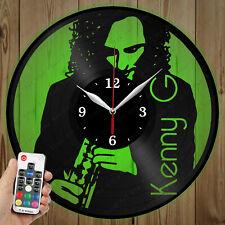 LED Vinyl Clock Kenny G LED Wall Art Decor Clock Original Gift 4619