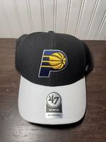 Indiana Pacers NBA Basketball '47 MVP Navy Blue White Strapback Hat Cap New