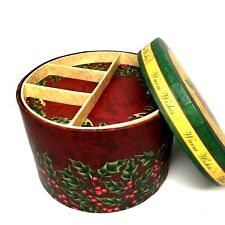 Colorbok Round Christmas Trinket Memory Jewelry Box with Compartment Divider