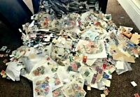 Worldwide Off Paper Unpicked 2000 pcs Stamps Collection Lot World Kiloware