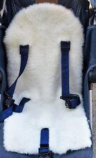 SHEEPSKIN Buggy Pushchair Pram Car Seat Liner Mat Natural Warm and Fluffy