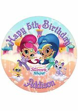 Edible Cake PRECUT Topper image SHIMMER and SHINE - Highest Australian Quality