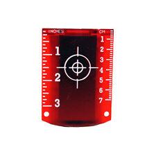 Linestorm Magnetic Red Laser Target For Use With Laser Levels | Cross Line Laser