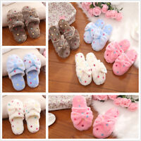Warm Soft Women's Winter Bowknot Bedroom Slippers Shoes House Indoor Floor Shoes
