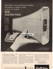 1961 Electro-voice PA 15 Speakers  Vtg  Print Ad