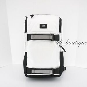NWT Vans VN0A3I69WHT Unisex Obstacle Pack Skateboard Laptop Backpack White Black