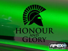 Honour and Glory! Sparta Gladiator - Patriot Black Vinyl Sticker