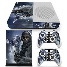 Xbox One S FPS Shooter Recon Console & 2 Controllers Decal Vinyl Skin Sticker