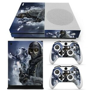 For Xbox One S Console & 2 Controllers Combat Decal Vinyl Skin Wrap