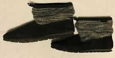 Teva Mush Womens Sz 8 Black Gray White Ankle Slip On Material Slouch Boots Shoes