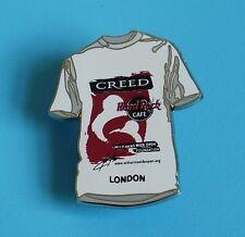 Hard rock cafe pin badge T shirt badge with creed charity London