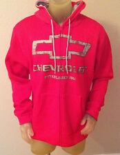 New CHEVROLET Red Hooded Zip Jacket Hoodie Mens Small S