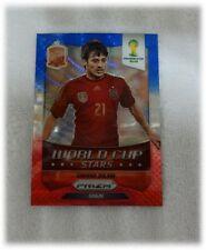 2014 Panini Prizm Blue Red Wave World Cup Stars - David Silva - Spain #31