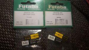 Futaba Crystal Set 75,850Mhz CH 83 + CH 74 / Quarz Set 75Mhz