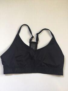 Victoria's Secret PINK Ultimate Lightly Lined Sport Bra  Black Size L