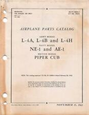 1943 AAF PIPER L-4A,B,H/NE-1 & AE-1 CUB PARTS CATALOG FLIGHT MANUAL HANDBOOK-CD