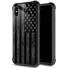 For iPhone XS MAX Case Shockproof Anti Scratch Black and White Flag 6 5 hookin g