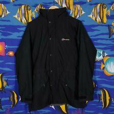 Berghaus Goretex Jacket Size 12 Windbreaker Waterproof Outdoor Outerwear Black