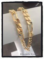 Chaîne Maille Super Cheval  55 cm x 7,2 mm - Plaqué Or 18 carats Bijoux Homme