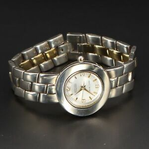 """Sterling Silver - ECCLISSI Two-Tone Panther Chain 6.5"""" Watch Bracelet - 13g"""