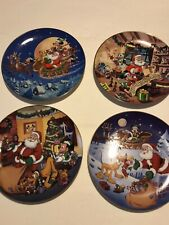 "Disney's Mickey""s Holiday Magic Plates Complete set of 4 Bradford Exchange"