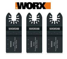 Worx Sonicrafter 35mm Oscilante Multiherramienta Universal Madera Cuchilla - 3 PC