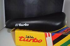 Selle Italia Turbo Leather seat saddle Chrome Rail Stamped 1990 Vintage NIB NOS