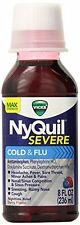 Vicks Nyquil Severe Cold & Flu Nighttime Relief Liquid Berry 8 oz Each