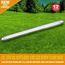 NEW 50CM 12/24V DC Diffused 100 LED Strip Light Bar Super Bright Camping Caravan