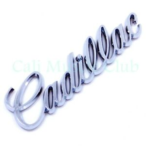 Cadillac Fleetwood Deville Brougham Script Emblem Nameplate Badge Rear Trunk