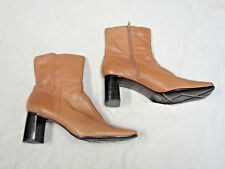 Nine West light brown leather boot   Size 10   Side Zipper