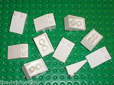 10 x LEGO White slope brick 3298 / set 6083 5525 383 10198 8019 7191 7666 ...