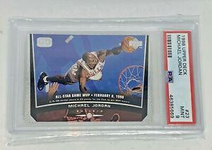 1998-99 Upper Deck Michael Jordan #23 Game Dated Graded PSA 9 Mint