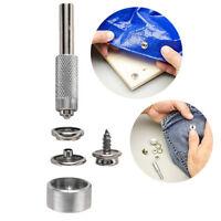 Snap Fastener Kit Grommet with Fasteners Stainless Steel Screws Tool