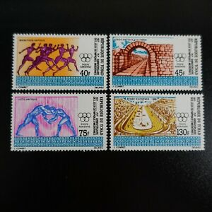 TCHAD POSTE AÉRIENNE PA N°89/92 JEUX OLYMPIQUES NEUF ** LUXE MNH