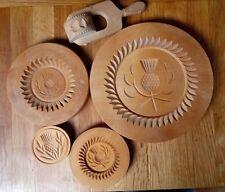 More details for set of scottish wooden shortbread moulds