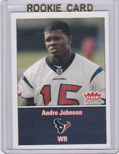 ANDRE JOHNSON 2003 Fleer Tradition RC Houston Texans NFL ROOKIE CARD